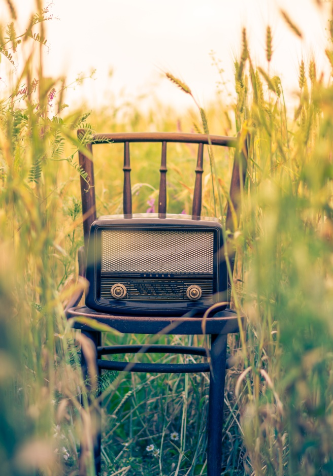 radio-on-chair